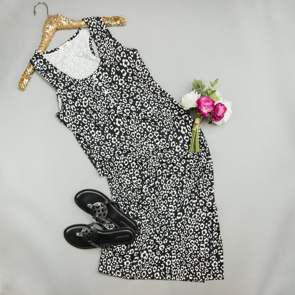 Cool Finish Leopard Midi Dress *ALL SALES FINAL*