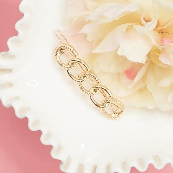 Gold Loop Hair Pin