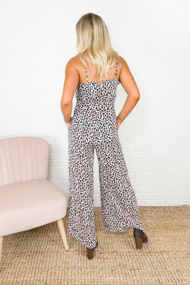 Leopard Smock Jumpsuit *all sales final*