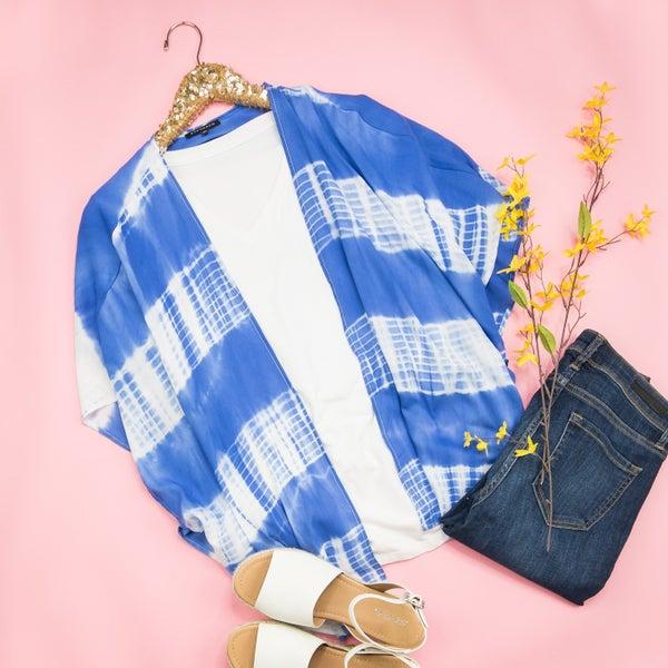Blue Tie Dye Kimono