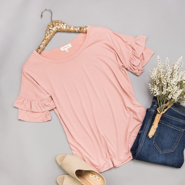 Blush Ruffle Top