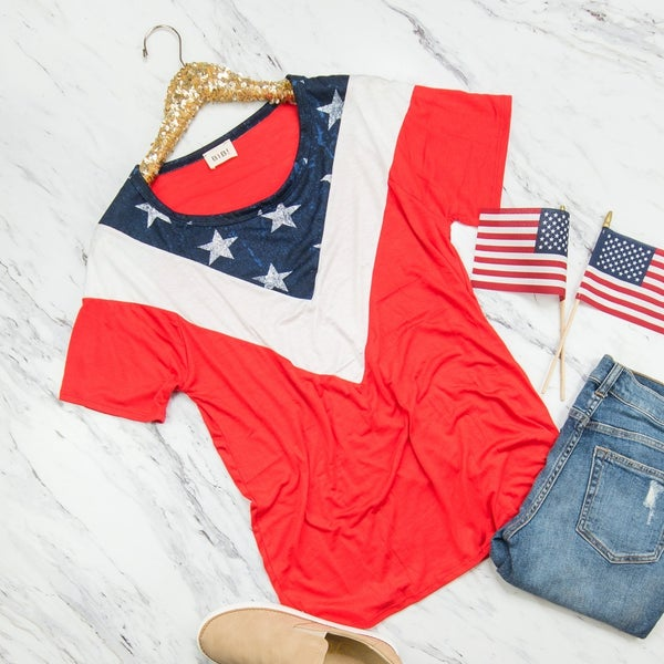 Patriotic Star Tee *all sales final*