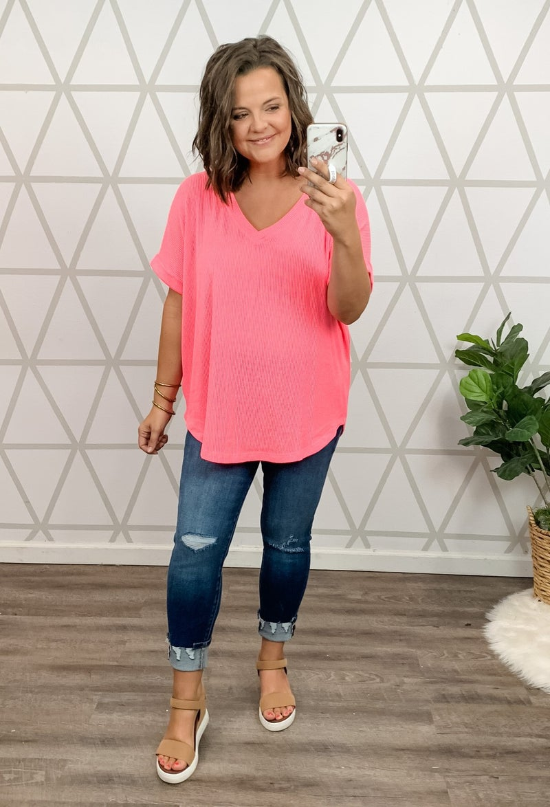 Pink So Bright Top *all sales final*