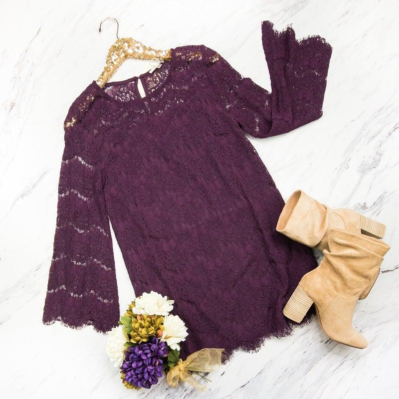 Purple Lace Party Dress *all sales final*
