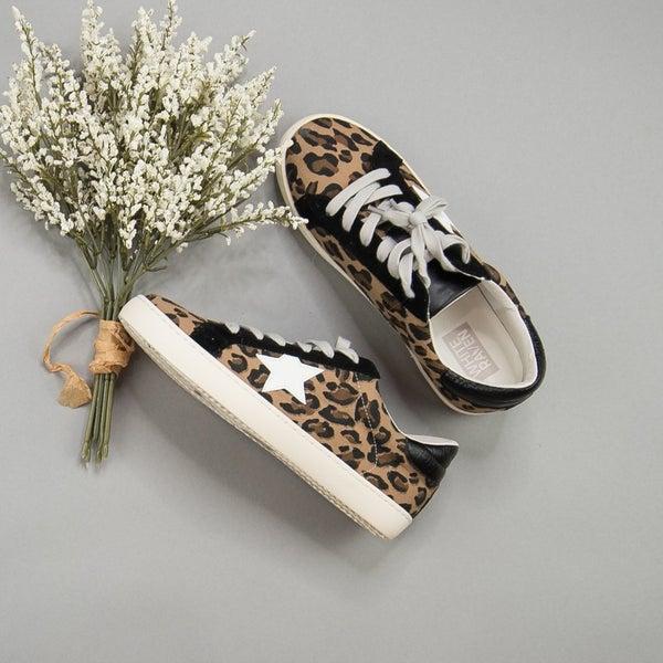 Black Leopard Sneakers