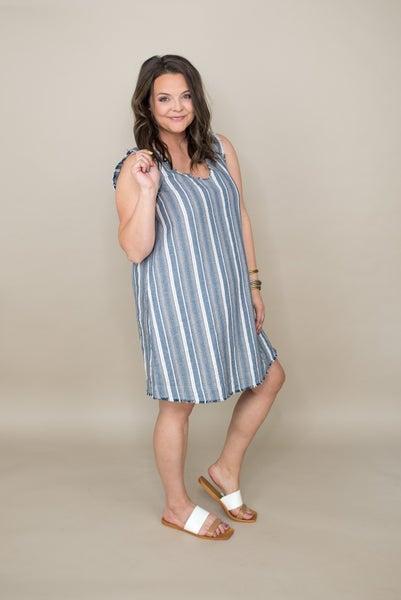 Denim Striped Dress