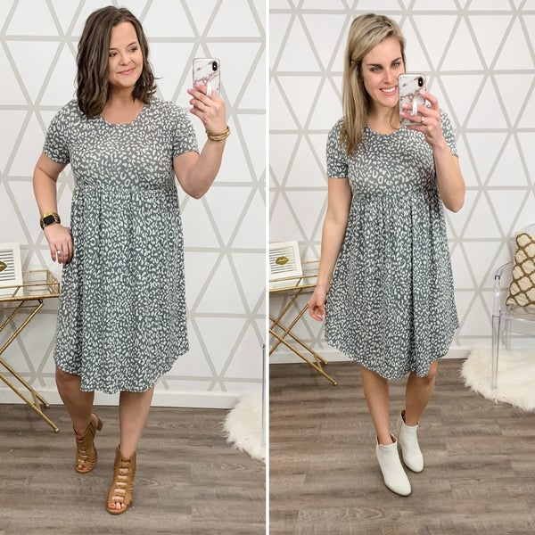 Grey Love T-Shirt Dress