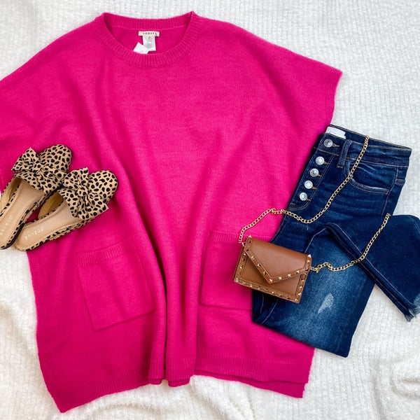 Hotter Than You Pink Poncho Tee