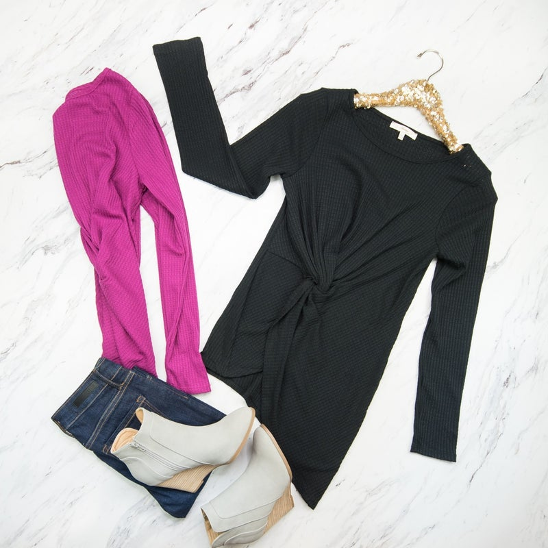 Flattering Front Knot Tee *ALL SALES FINAL*