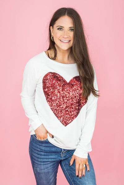 Steal My Sequin Heart Top