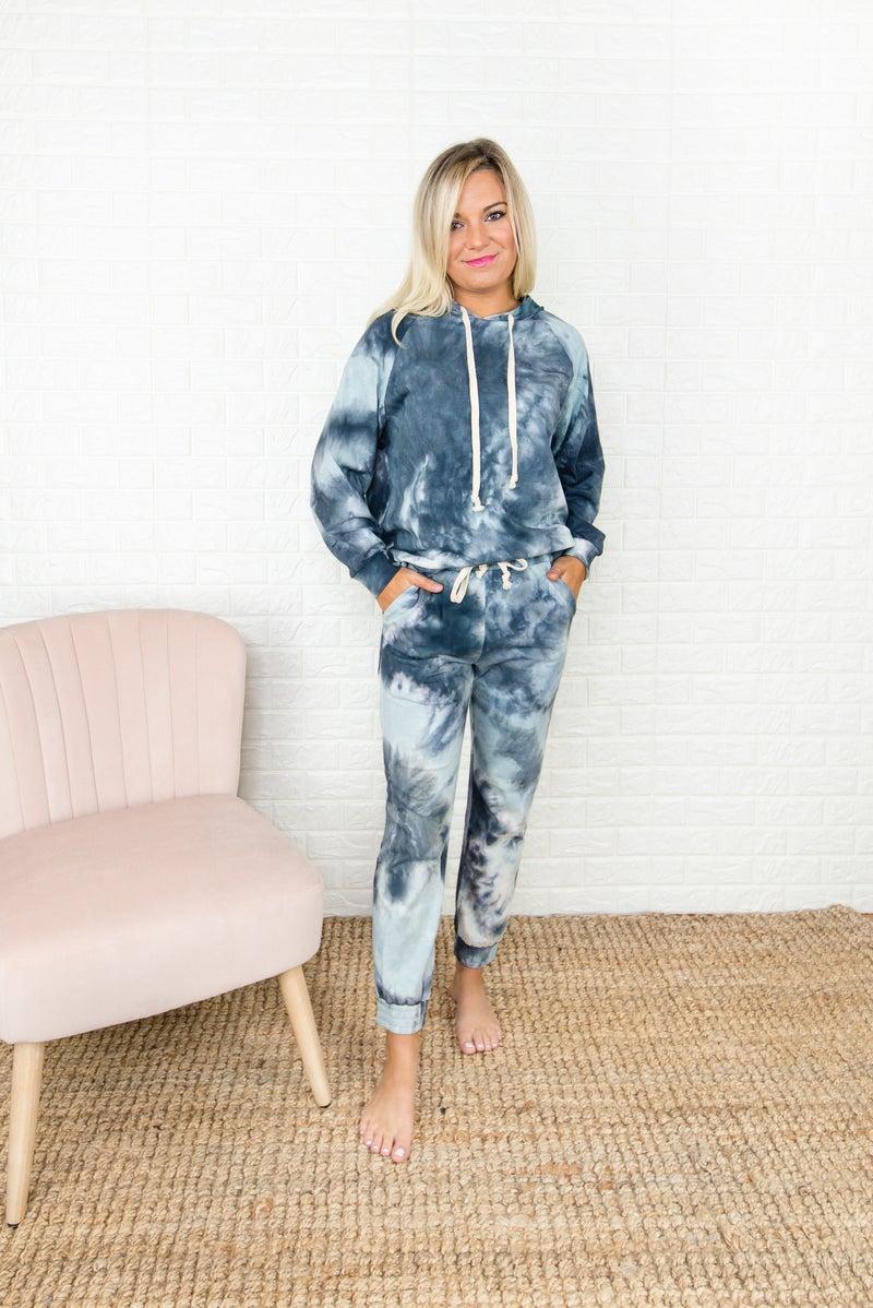 Gray Tie Dye Lounge Pants