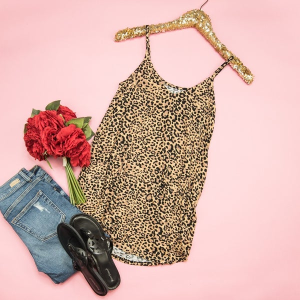 *HAPPY HOUR* Leopard Addict Tank // all sales final
