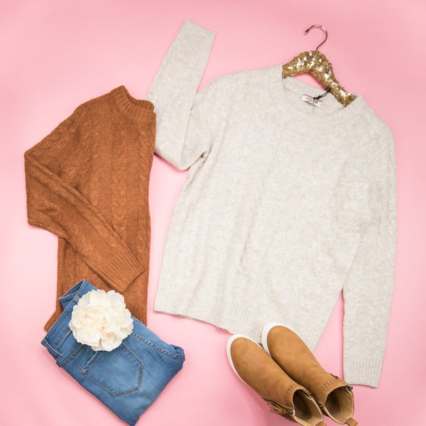 Cozy Cable Knit Sweater *ALL SALES FINAL*