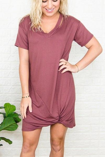 Rust Swish Dress