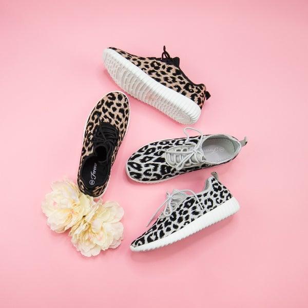 Leopard Glitter Sneakers