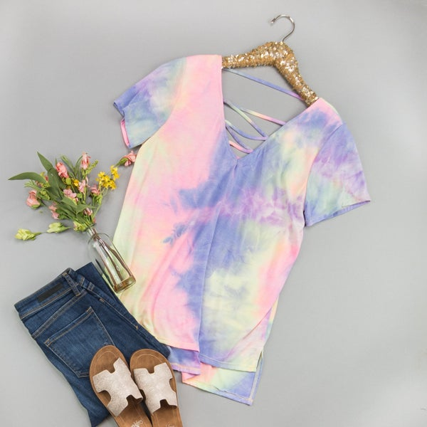 Muted Tie Dye Top
