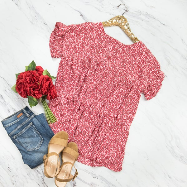 True Red Pretty Girl Blouse