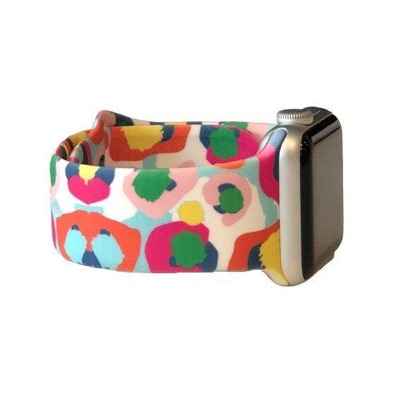 Multi Color Cheetah Apple Watch Band