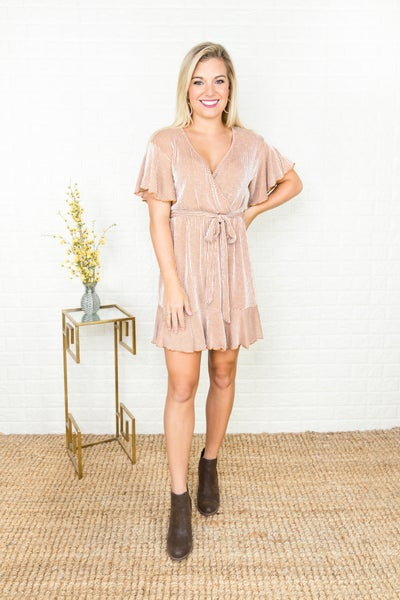 Rust Bow Tie Dress *all sales final*