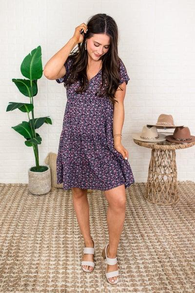Micro Floral Dress