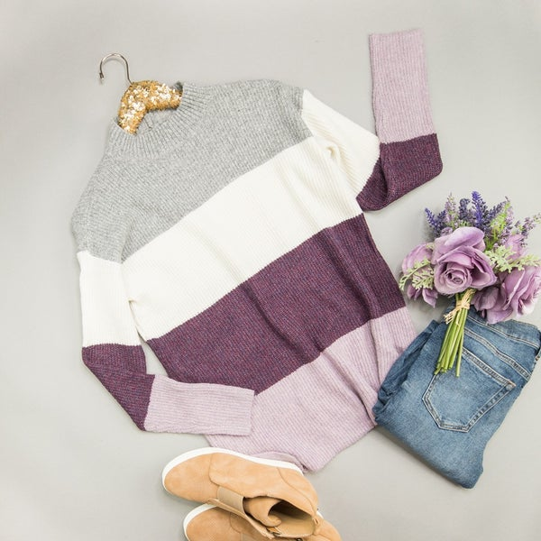 Staccato Purple Shades Sweater