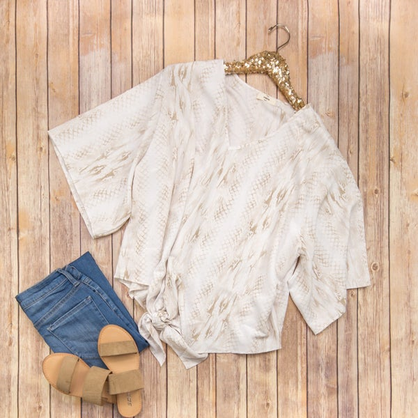 Simple Snake Print Blouse *ALL SALES FINAL*