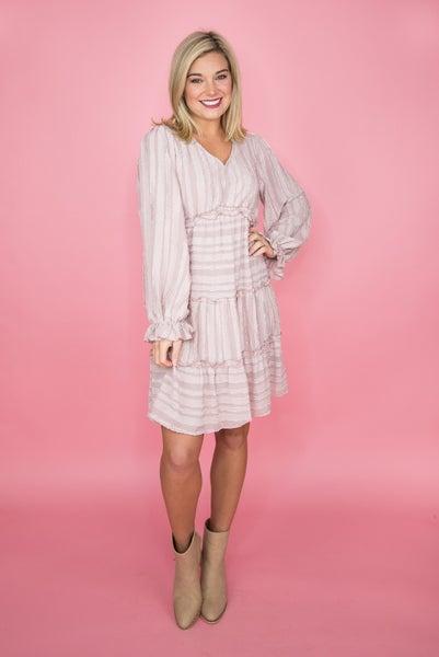 Mauve Shimmer Dress