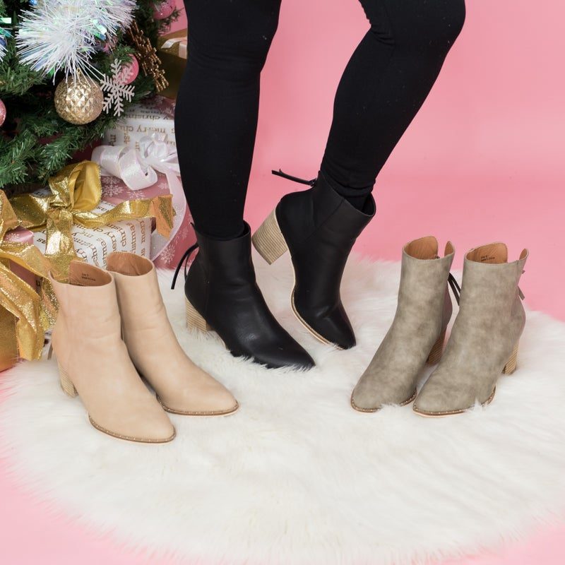 Chic Studded Trim Booties