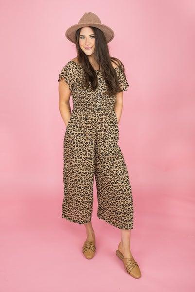 Count On Me Leopard Jumpsuit