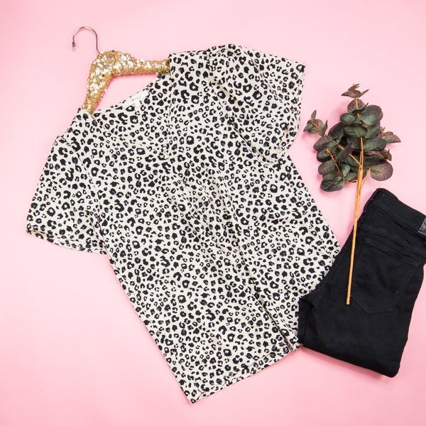 Leopard-Inspired Work Blouse