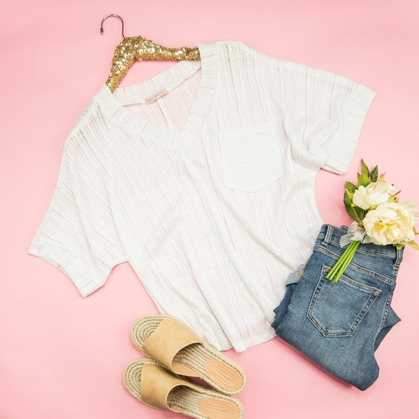 Ivory Poncho Tee *all sales final*