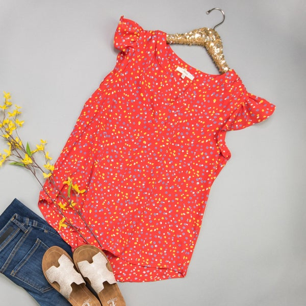 Confetti Pop Red Blouse