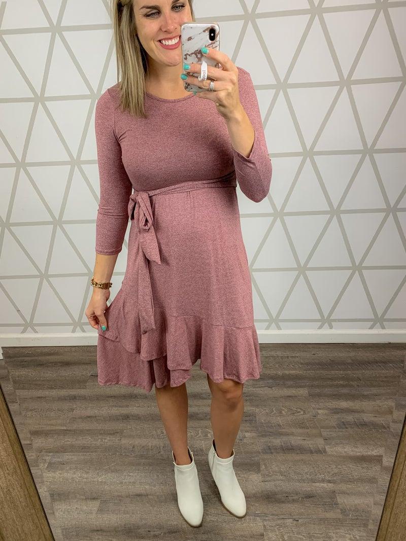 Conservative Ruffle Dress *all sales final*