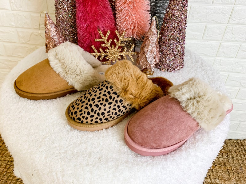 Snuggle Up Fur Slippers