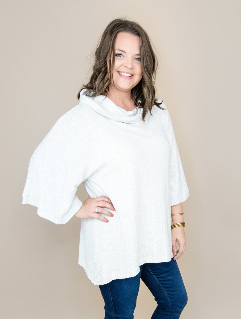 Slimming Frost Cowl Top