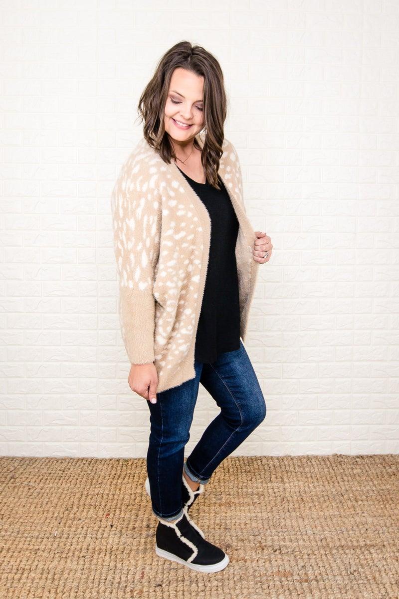 Sandy Leopard Cardigan