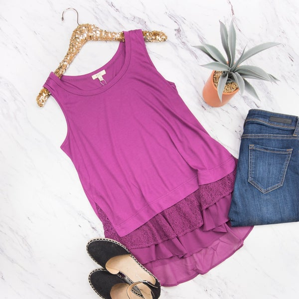 Magenta Layering Tank *all sales final*