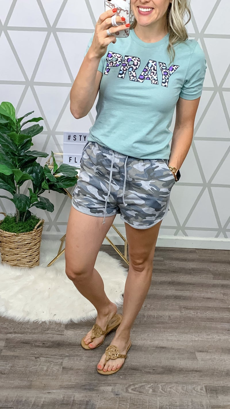 Camo Lounge Shorts *all sales final*