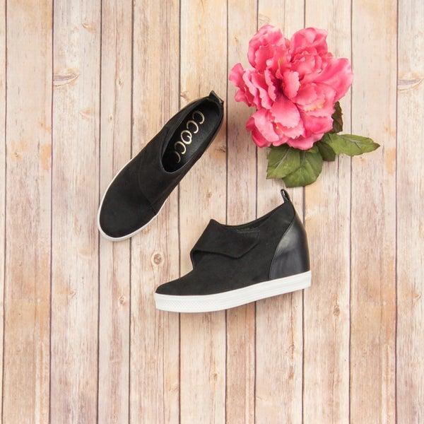 Black Sneaker Wedge *ALL SALES FINAL