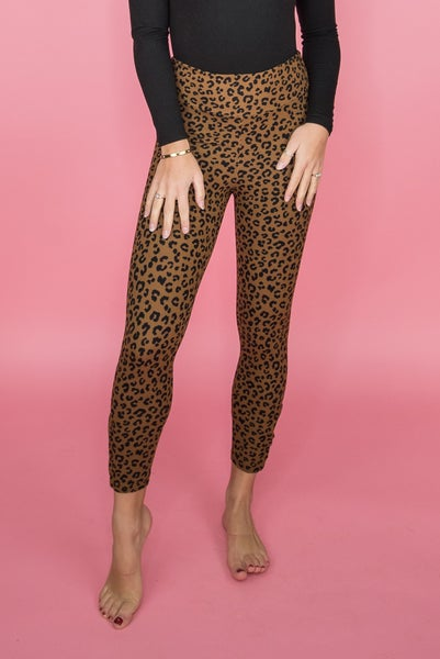 Brown Leopard Leggings