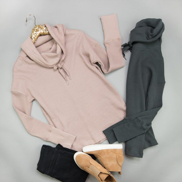 Cowl Tie Athleisure Top *all sales final*