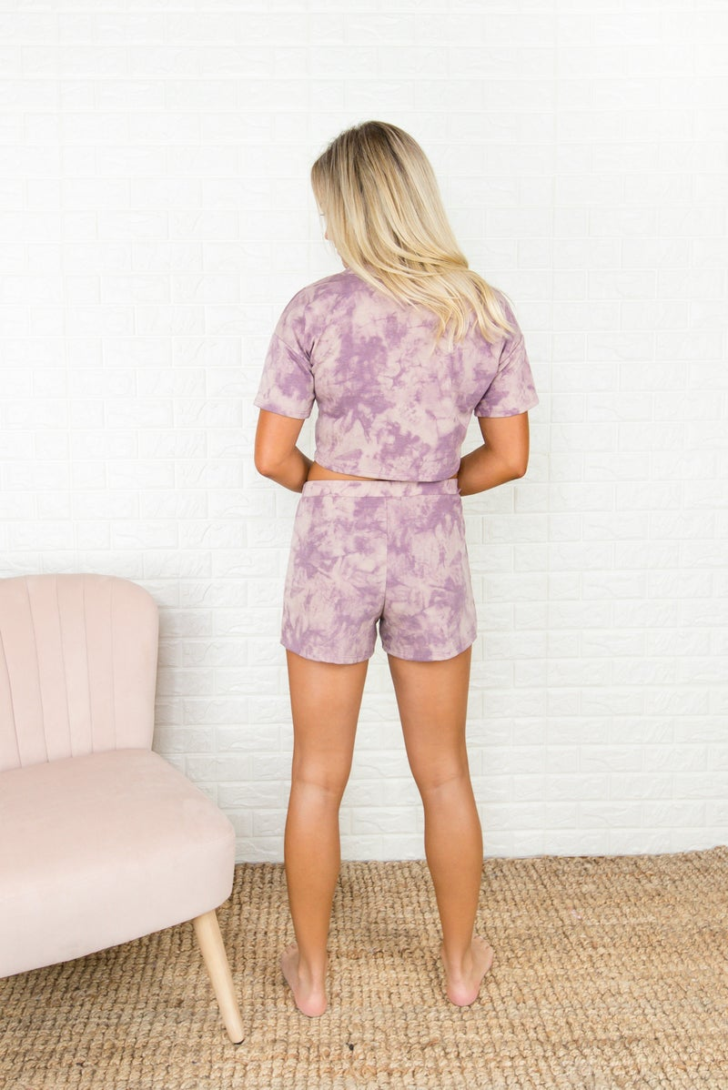 Purple Dye Lounge Shorts