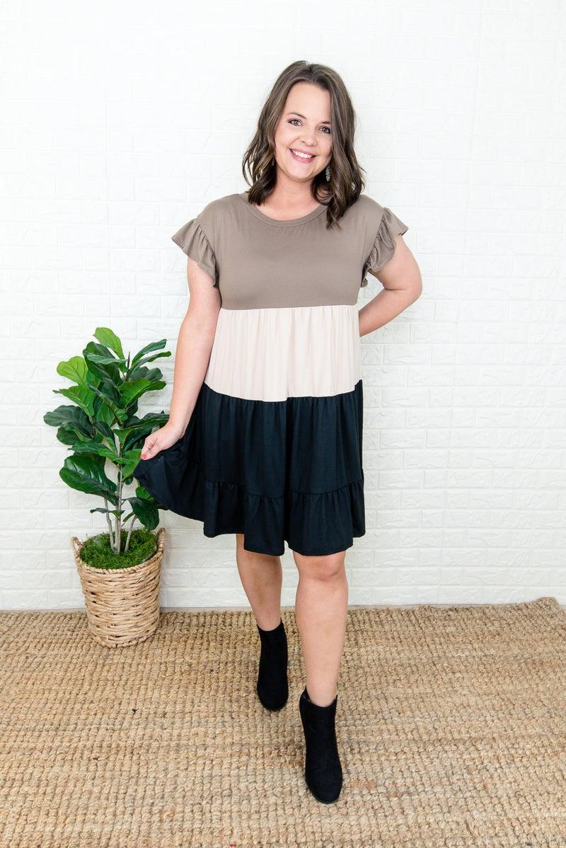 Fall Block Dress