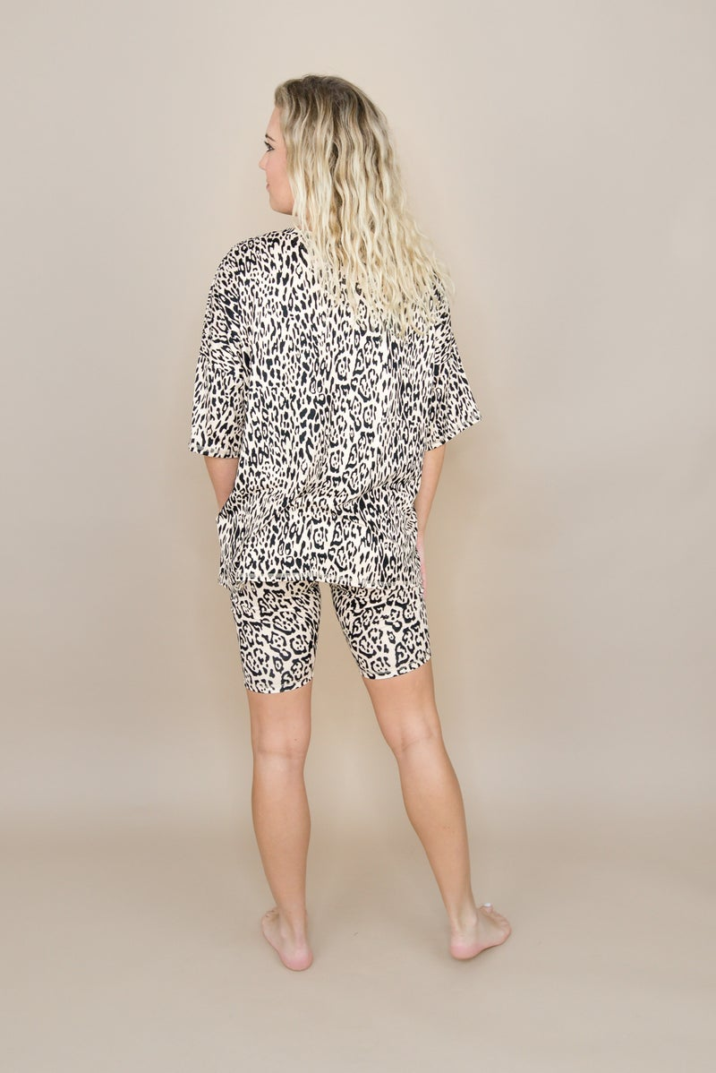 Buttersoft Leopard Biker Shorts