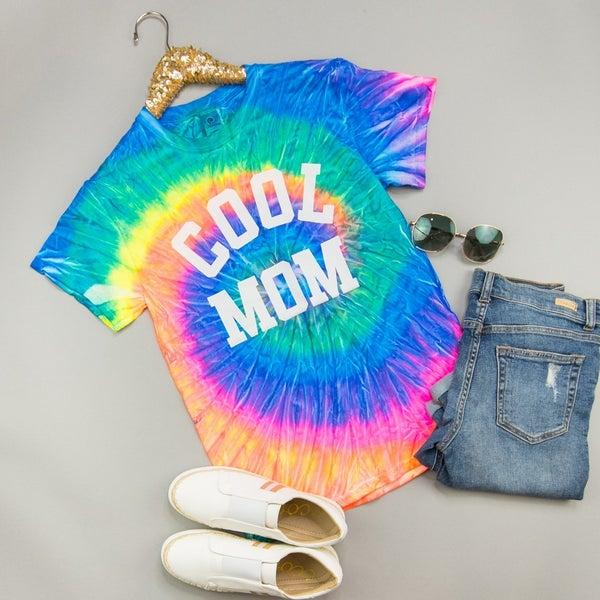 Tie Dye Cool Mom Tee
