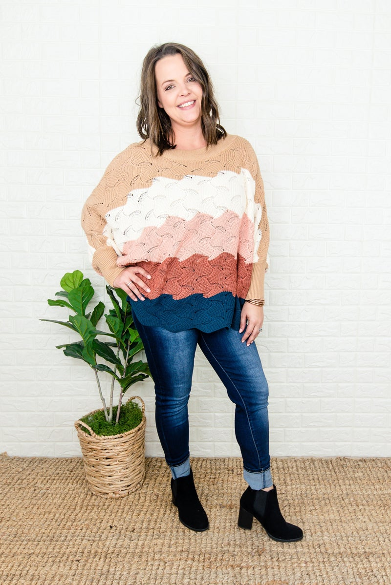 Head Over Heels Scalloped Sweater