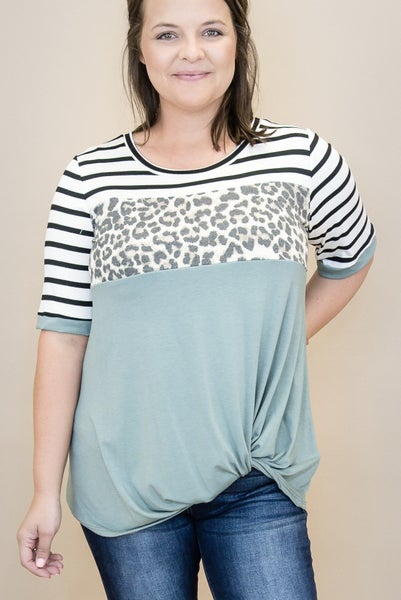 Leopard Fall Swish Tee *all sales final*