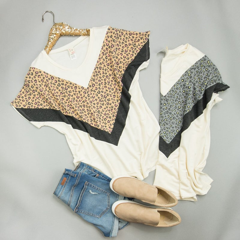 The Way to Leopard Top  *all sales final*