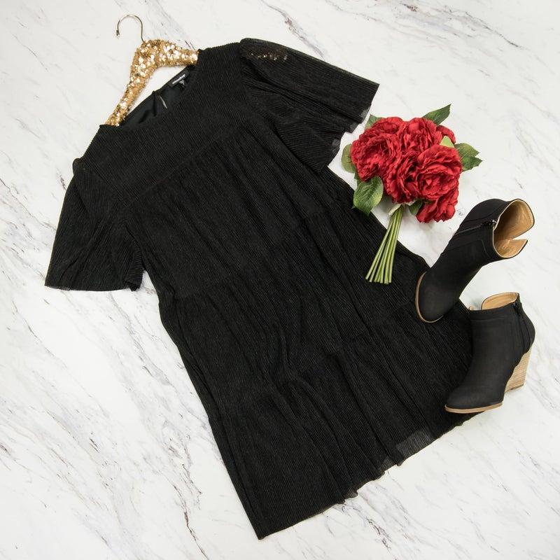 Shimmery Little Black Dress *ALL SALES FINAL*