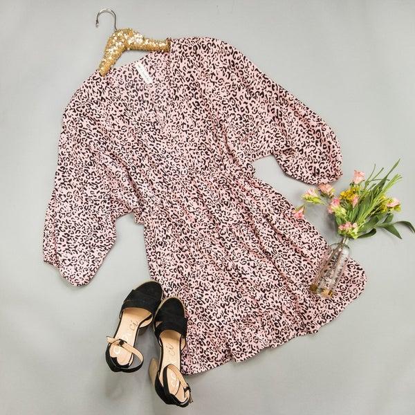 Leopard Blush Dress *all sales final*